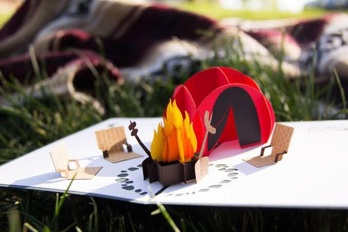 3D Camping Trip Pop Card