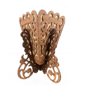Cart Wooden Vase